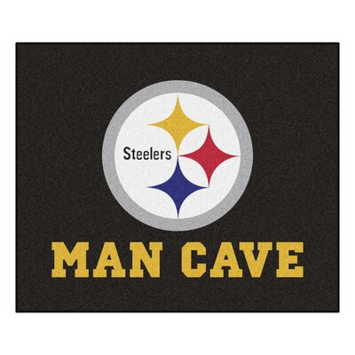 NFL - Pittsburgh Steelers Man Cave Indoor/Outdoor Area Rug Rug Size: 5 x 6