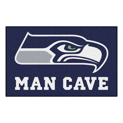 NFL - Seattle Seahawks Man Cave Indoor/Outdoor Area Rug Rug Size: 5 x 8