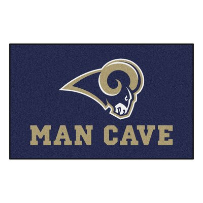 NFL - Los Angeles Rams Man Cave Indoor/Outdoor Area Rug Rug Size: 5 x 8