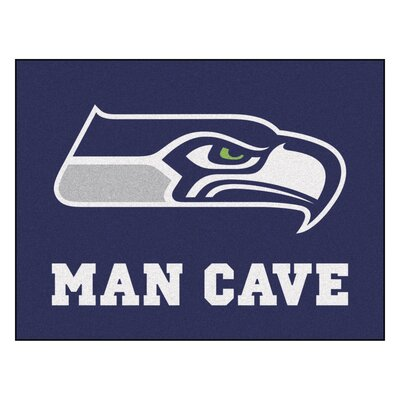 NFL - Seattle Seahawks Man Cave Starter Rug Size: 210 x 37