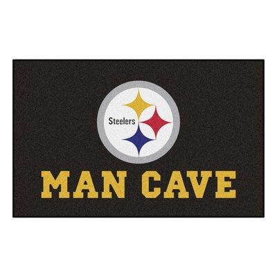 NFL - Pittsburgh Steelers Man Cave Indoor/Outdoor Area Rug Rug Size: 5 x 8