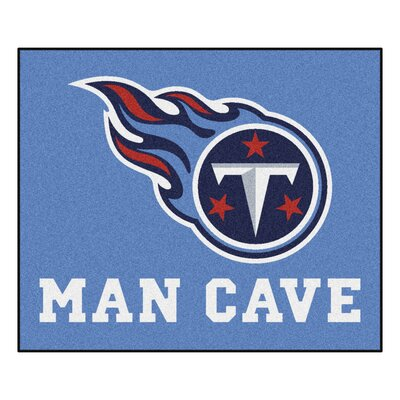 NFL - Tennessee Titans Man Cave Indoor/Outdoor Area Rug Rug Size: 5 x 6