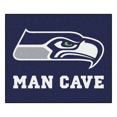 NFL - Seattle Seahawks Man Cave Indoor/Outdoor Area Rug Rug Size: 5 x 6