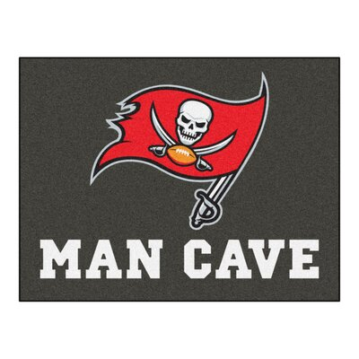 NFL - Tampa Bay Buccaneers Man Cave Starter Rug Size: 210 x 37