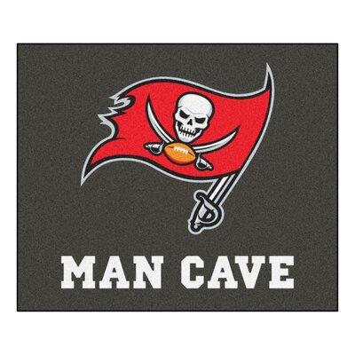 NFL - Tampa Bay Buccaneers Man Cave Indoor/Outdoor Area Rug Rug Size: 5 x 6