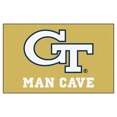 Collegiate NCAA Georgia Tech Man Cave Doormat