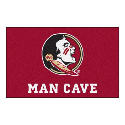 Collegiate NCAA Florida State University Man Cave Doormat