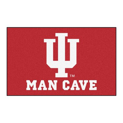 Collegiate NCAA Indiana University Man Cave Doormat