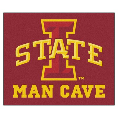 NCAA Iowa State University Man Cave Indoor/Outdoor Area Rug