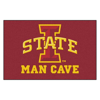 Collegiate NCAA Iowa State University Man Cave Doormat