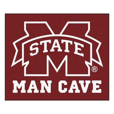 NCAA Mississippi State University Man Cave Indoor/Outdoor Area Rug