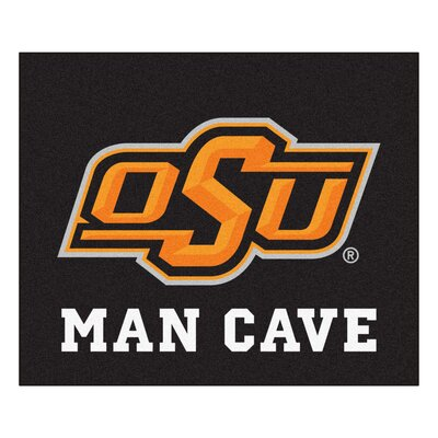 NCAA Oklahoma State University Man Cave Indoor/Outdoor Area Rug