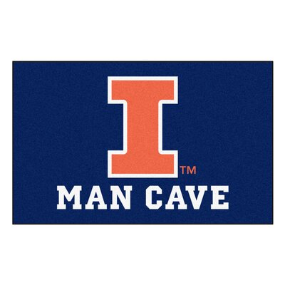 Collegiate NCAA University of Illinois Man Cave Doormat