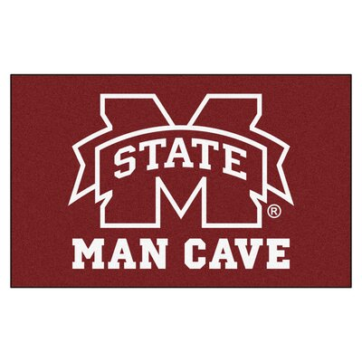 Collegiate NCAA Mississippi State University Man Cave Doormat