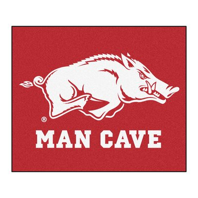 NCAA University of Arkansas Man Cave Indoor/Outdoor Area Rug