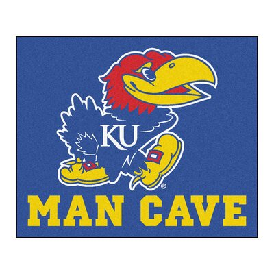 NCAA University of Kansas Man Cave Indoor/Outdoor Area Rug