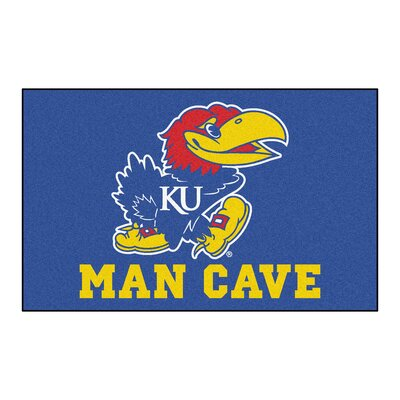 Collegiate NCAA University of Kansas Man Cave Doormat