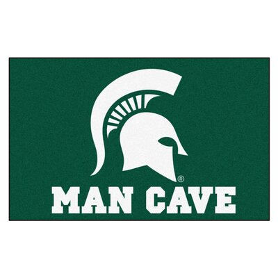Collegiate NCAA Michigan State University Man Cave Doormat