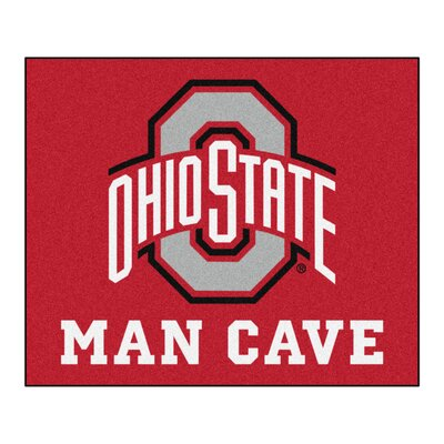 NCAA Ohio State University Man Cave Indoor/Outdoor Area Rug