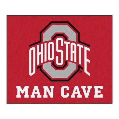 NCAA Ohio State University Man Cave Indoor/Outdoor Area Rug