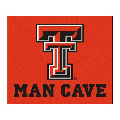 NCAA Texas Tech University Man Cave Indoor/Outdoor Area Rug