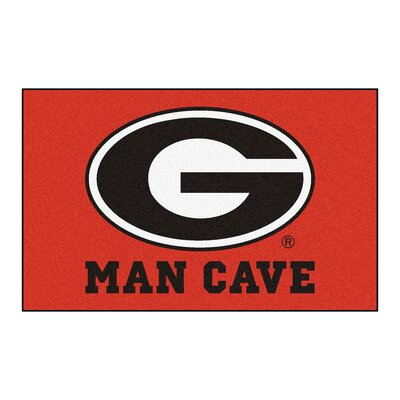 Collegiate NCAA University of Georgia Man Cave Doormat