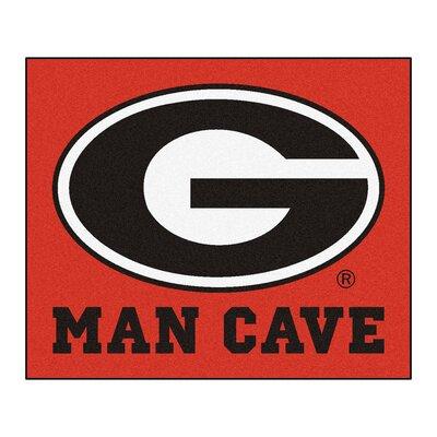 NCAA University of Georgia Man Cave Indoor/Outdoor Area Rug