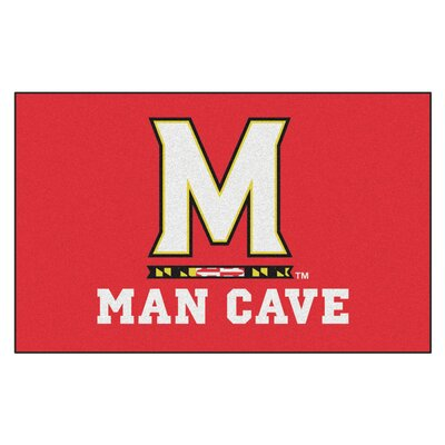 Collegiate NCAA University of Maryland Man Cave Doormat