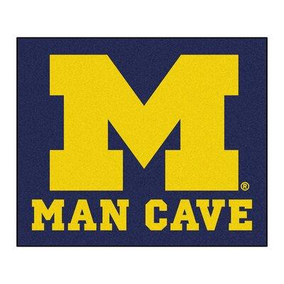 NCAA University of Michigan Man Cave Indoor/Outdoor Area Rug