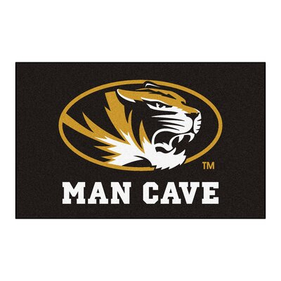 Collegiate NCAA University of Missouri Man Cave Doormat