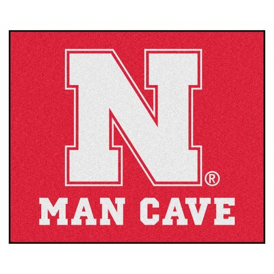 NCAA University of Nebraska Man Cave Indoor/Outdoor Area Rug
