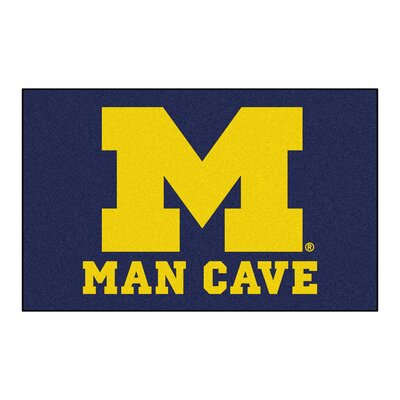 Collegiate NCAA University of Michigan Man Cave Doormat