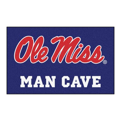 Collegiate NCAA University of Mississippi (Ole Miss) Man Cave Doormat