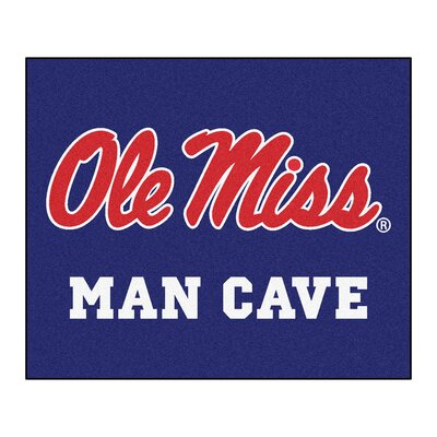 NCAA University of Mississippi (Ole Miss) Man Cave Indoor/Outdoor Area Rug