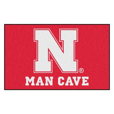 Collegiate NCAA University of Nebraska Man Cave Doormat