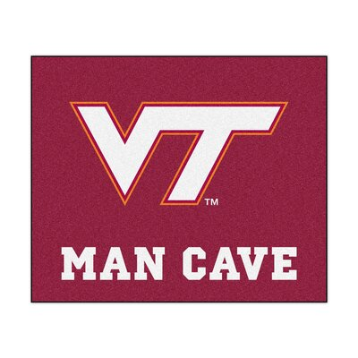 NCAA Virginia Tech Man Cave Indoor/Outdoor Area Rug