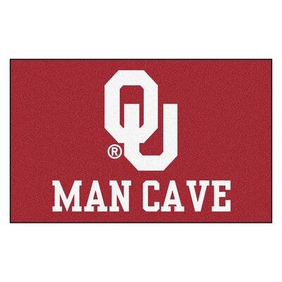 Collegiate NCAA University of Oklahoma Man Cave Doormat