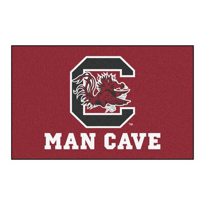 Collegiate NCAA University of South Carolina Man Cave Doormat