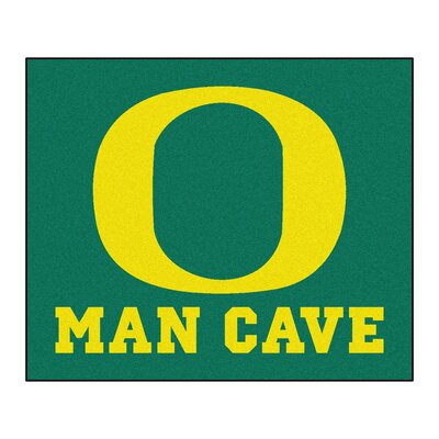 NCAA University of Oregon Man Cave Indoor/Outdoor Area Rug