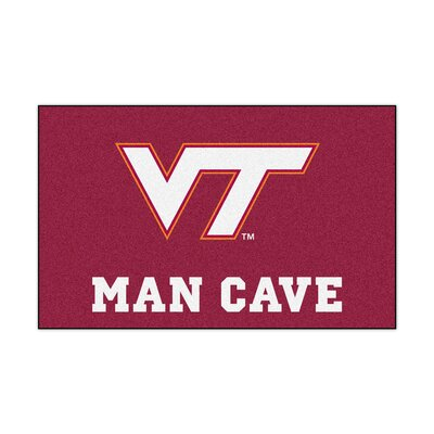Collegiate NCAA Virginia Tech Man Cave Doormat