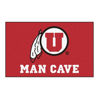 Collegiate NCAA University of Utah Man Cave Doormat