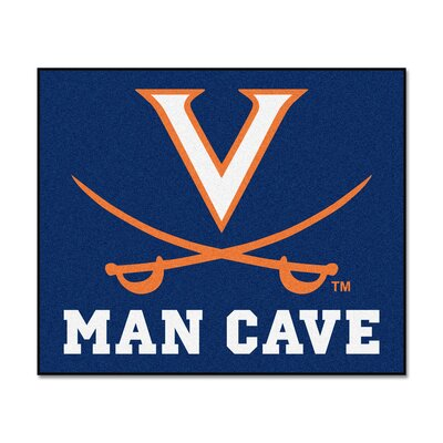 NCAA University of Virginia Man Cave Indoor/Outdoor Area Rug