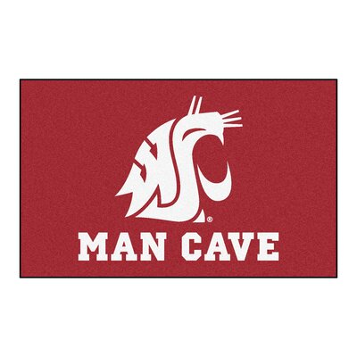 Collegiate NCAA Washington State University Man Cave Doormat