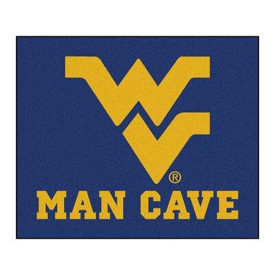 NCAA West Virginia University Man Cave Indoor/Outdoor Area Rug