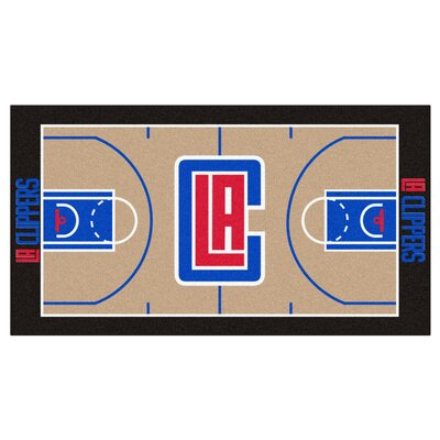 NBA - Los Angeles Clippers NBA Court Runner Doormat Rug Size: 25.5 x 46