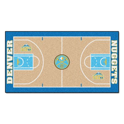 NBA - Denver Nuggets NBA Court Runner Doormat Mat Size: 25.5 x 46