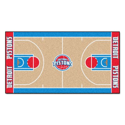 NBA - Detroit Pistons NBA Court Runner Doormat Rug Size: 25.5 x 46