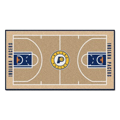 NBA - Indiana Pacers NBA Court Runner Doormat Rug Size: 2' x 3'8