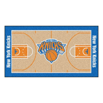 NBA - New York Knicks NBA Court Runner Doormat Rug Size: 25.5 x 46