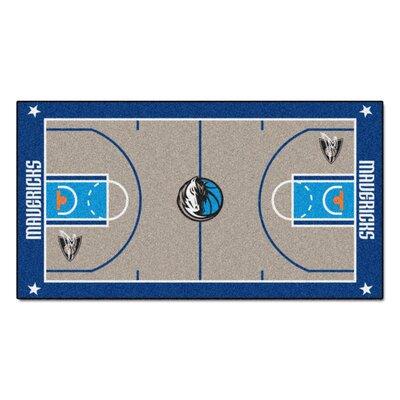 NBA - Dallas Mavericks NBA Court Runner Doormat Rug Size: 25.5 x 46